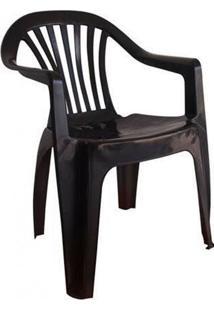 Cadeira De Plástico Poltrona Boa Vista Preto Antares