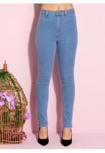 Calça Jeans Com Bolsos Funcionais Nas Costas
