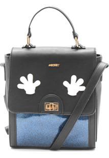 Bolsa Mickey Mouse Zíper Azul