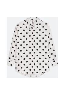 Camisa Em Tricoline Estampada P&B | Blue Steel | Branco | Gg