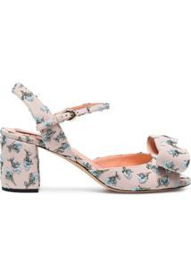 Rochas Sandália Com Bordado Floral - Rosa