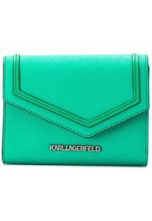 Karl Lagerfeld Carteira Rocky Saffiano - Verde