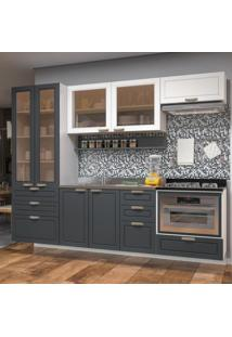 Cozinha Completa 7 Peças Americana Multimóveis 5665Smf Branco/Grafite