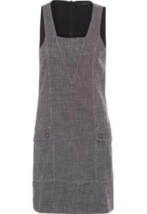 Vestido Alfaiataria Shoulder - Preto