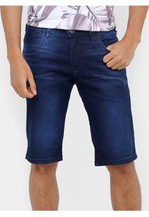 Bermuda Jeans Rock & Soda Estonada Masculina - Masculino