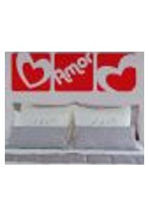 Adesivo De Parede Cabeceira Amor Em Quadros - P 25X78Cm