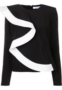 Givenchy Blusa Com Babado - Preto