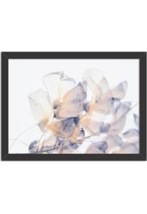 Quadro Decorativo Primavera Flores Brancas Preto - Grande