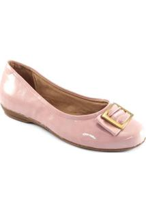 Sapatilha Verniz Sapato Show - Feminino-Rosa
