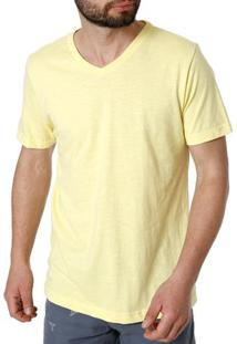Camiseta Manga Curta Masculina Rovitex Amarelo