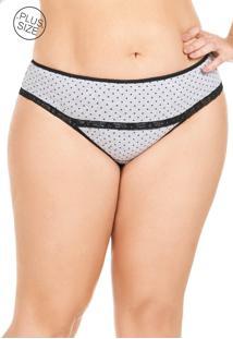Calcinha De Cotton Plus Size Mondress Cinza - Kanui
