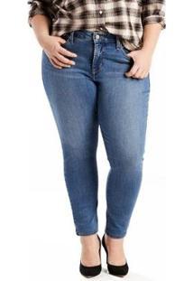 Calça Jeans 310 Shaping Super Skinny Plus Size - Feminino-Azul