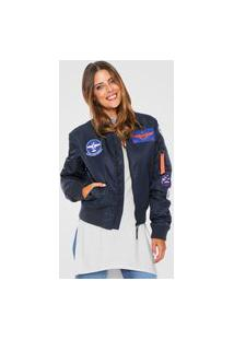 Jaqueta Bomber Ellus 2Nd Floor Patches Azul