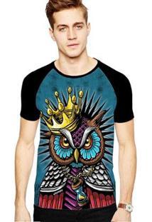 Camiseta Stompy Raglan Modelo 198 Masculina - Masculino-Preto