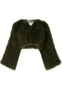 Sonia Rykiel Turkey Feather Bolero Jacket - Green