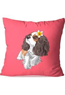Capa De Almofada Decorativa Dog Rosa 35X35Cm