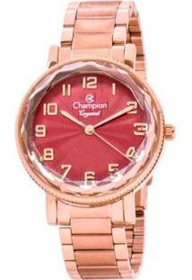 Relógio Feminino Champion Cn25596I Crystal Analógico Rosé - Feminino