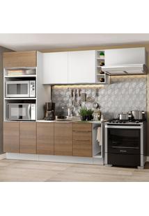 Cozinha Completa Madesa Stella 290002 Com Armário E Balcão Branco