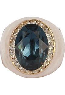 Anel Armazem Rr Bijoux Resinado Pedra Azul - Tricae