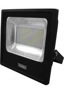 Refletor Led 100W Luz Amarela 3000K Taschibra Preto