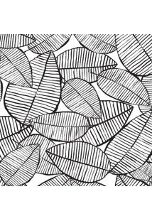 Papel De Parede Folhagem Preto E Branco 57X270Cm - Tricae