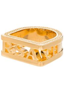 Versace Anel Dourado Com Logo