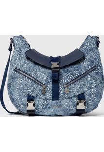 Bolsa Tiracolo Shoulder Bag Galaxy Azul