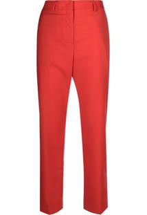 Paul Smith Calça De Alfaiataria Cropped - Vermelho