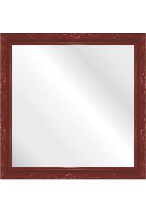 Espelho Brilho Rococo Vermelho 36X36Cm