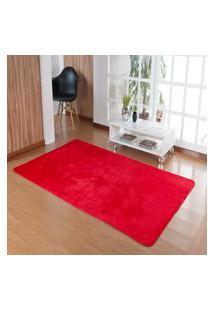 Tapete Retangular Premium Sala- Liso 2,00 X 1,50 Vermelho