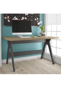 Mesa Para Escritório Com Tampo De Vidro Tc225V - Dalla Costa