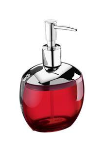Porta-Sabonete Líquido Spoom Classic 10,6 X 8,5 X 17,2 Cm 300 Ml Vermelho Transparente Coza