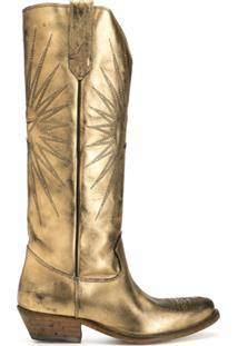 Golden Goose Bota Cowboy Wish Star - Dourado