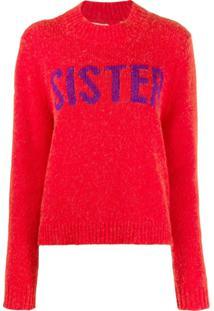 Chinti & Parker Suéter Com Estampa Sister - Vermelho