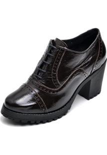 Bota Leticia Alves Ankle Boot 19000 Café Verniz