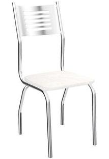 Cadeira Kappesberg Munique 4C047 (4 Unidades) Cromada/Branco