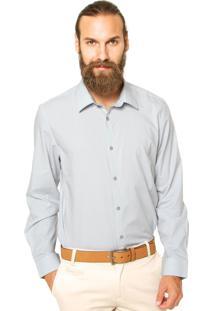Camisa Calvin Klein White Label Reta Cinza