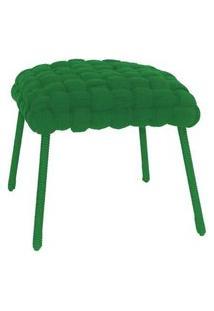 Banqueta De Corda Soft Quadrado Verde