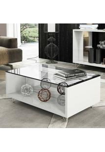 Mesa De Centro Com Espelho Charmy Branco - Hb Móveis