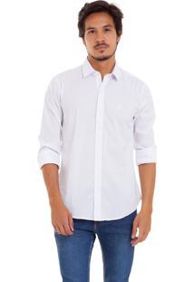 Camisa De Tricoline Com Stretch Joss Branca