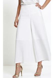 Calça Alfaitaria Pantalona Branca