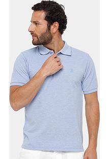 Camisa Polo Broken Rules Piquet Mesclado Masculina - Masculino-Azul Claro