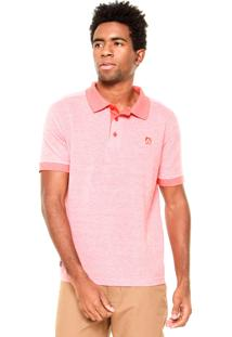 Camisa Polo Mr. Kitsch Logo Laranja