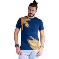 d330116462 Camiseta Mister Fish Estampado Palmeiras Masculina - Masculino-Marinho