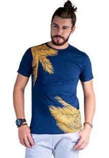 Camiseta Mister Fish Estampado Palmeiras Masculina - Masculino-Marinho