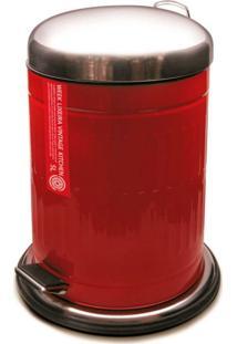Lixeira Vintage Kitchen Vermelha 5L