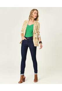 Calça Skinny Flex Jeans Malwee Azul Escuro - 34