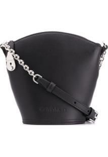 Calvin Klein Bolsa Bucket Pequena Com Logo - Preto