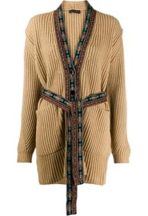 Etro Cardigan Com Bordado - Neutro