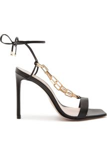 Sandália Lace-Up Chain Black | Schutz